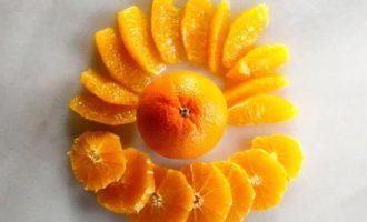 Рецепт салата с апельсином, курицей и грецким орехом
