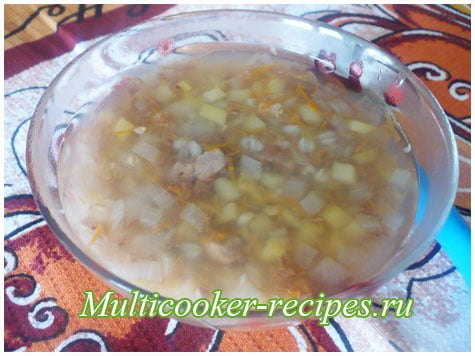 Гречневый суп с говядиной в мультиварке для ребенка