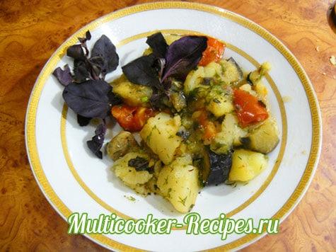 Соте в мультиварке с картошкой и грибами