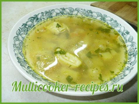 Суп с сырными рулетиками в мультиварке